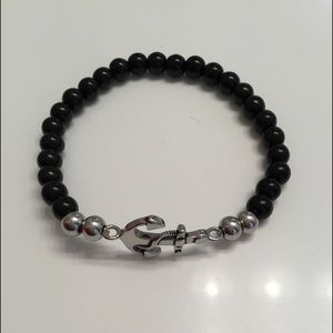 Anchor Bracelet - Black/Silver